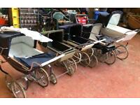 5 Vintage Silver Cross Coach Built Prams