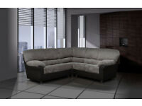 CLASSIC DESIGN FABRIC AND LEATHER SOFA SETS, CORNER SOFAS, ARMCHAIRS, STOOLS * UK DELIVERY