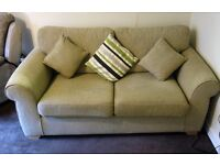 Sofa bed and cushions