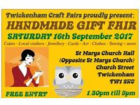 TCF's Handmade Gift Fair - Twickenham - 16th SEPTEMBER 2017