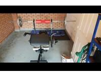 DTX Fitness Weight Bench with Butterfly & Preacher Curl +Weights