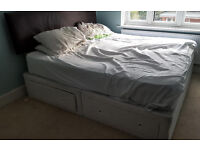 King Size bed and memory foam mattress . Free.