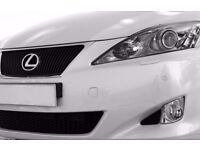 Genuine 2006-2010 Lexus is220d front foglamps + lower grill (set)