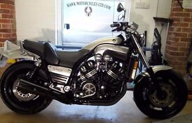DEPOSIT RECEIVED 1997FULL POWER YAMAHA VMAX1200 MUSCLE BIKE EXTREMELY LOW MILEAGE