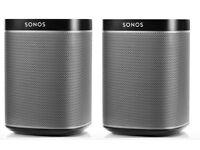 Brand New Sonos Play 1 X 2 in Black
