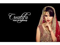 Creatifa Hair & Makeup Artist - Lubna Rafiq Pro Artist for Asian Bridal & Special Occasions. London.