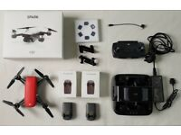 Dji Spark Drone plus Spark Portable Power Pack batteries, NDA filters - better than fly more combo,