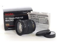 Sigma 17-70mm F2.8-4.5 DC Macro lens - Canon fit