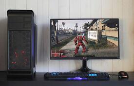 Fast Gaming Modded GTA V PC Intel Quad Core 8GB DDR3 Windows 10 Nvidia GTX Blue LED Quiet Fan