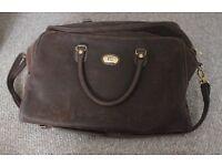 travel luggage bag brown suede