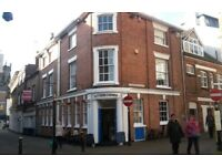 Stafford Town Centre. 4 floors including 2bed apartment and cellar