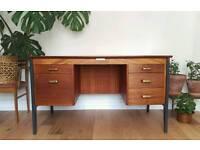 Mid Century Vintage 1950's Teak Desk by Gordon Russell