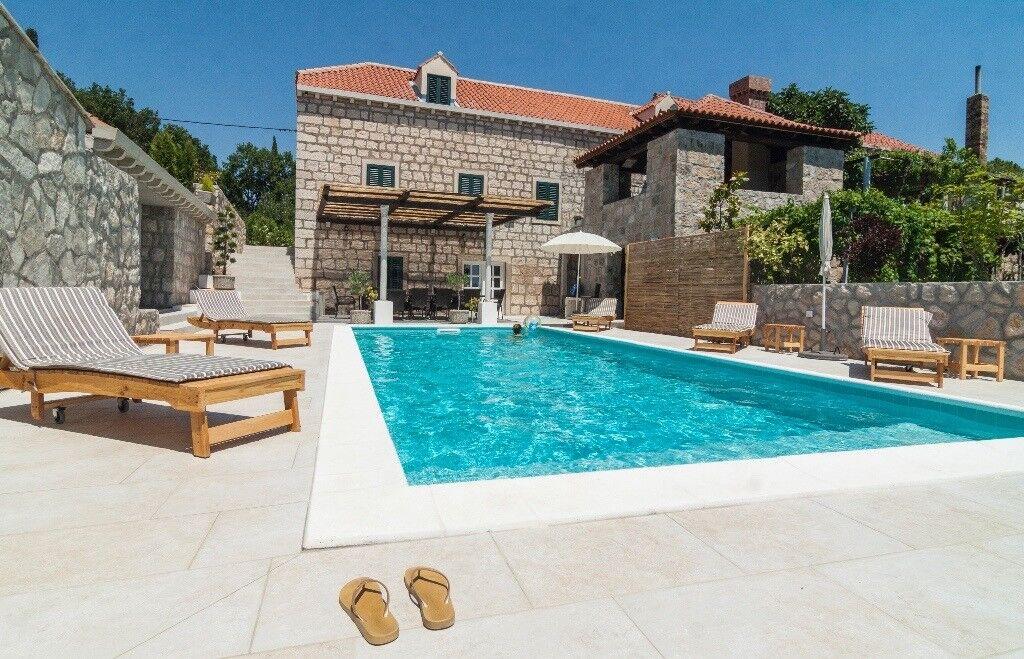 Authentic old-stone villa for rent in Croatia