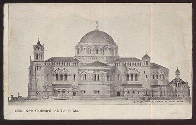 Postcard St Louis Missouri Mo  Architects Concept New Cathedral 1907