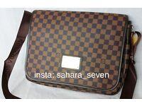 Brown Louis Vuitton bag shoulder side Lv handbag Messenger £45