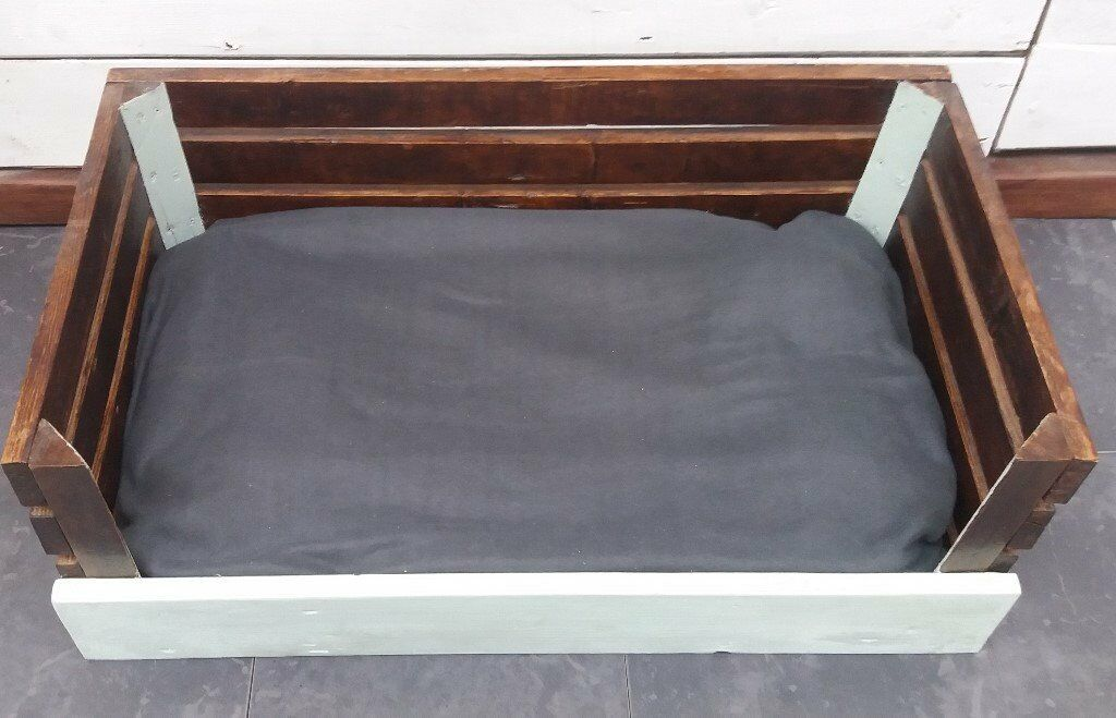 reclaimed wood dog beds
