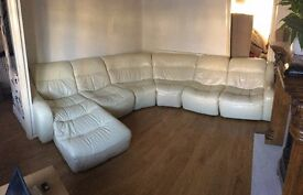 DFS ZARA 6 PIECE CREAM LEATHER SET - EXCELLENT CONDITION // FREE DELIVERY