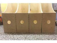 4 x Ikea wooden file / magazine racks