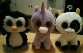 Set of 3 TY BEANIE BOOS BABIES