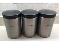 BRABRANTIA TEA/COFFEE/SUGAR CANISTERS