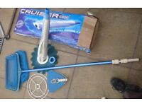 POOL CLEANER- WITH NET AND OTHER ACCESSORIES - IN WORKING ORDER- GOOD CONDITION