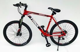 "Mountain bike 26"" wheel 20"" frame 24 shimano gears lock out fork & lightweight *NEW*"