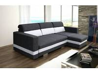 New corner sofa bed R-mini Amk Furniture,Fast del.Double bed Polish Funiture