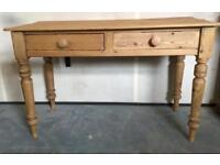 Antique Victorian solid pine scullery/kitchen table