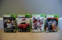 Grand theft auto IV,  Forza 4,  NHL14,  Battlefield 3