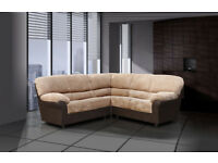 3+2 or corner sofa in black and grey or brown and beigh nice soft fabric 8CCUCUBEBC