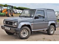 1996 DAIHATSU FOURTRAK 2.8 TDL, LOW MILEAGE, ONLY 1 OWNER FROM NEW - FAILED MOT (SPARES OR REPAIR)
