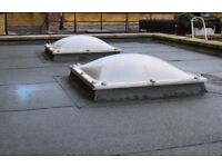3 x Dome Rooflight Windows 1.25m Square Roof Lights