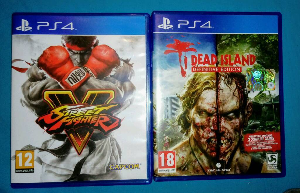 STREET FIGHTER 5+DEAD ISLAND DEFINITIVE EDITION FOR PS4