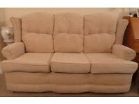 Settee & 2 Matching Recling Chairs