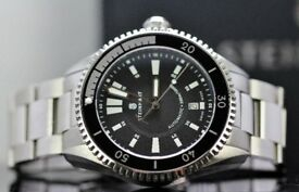 gents large face 43 mm Steinhart Ocean 2... ETA 2824-2 movement wrist watch with box