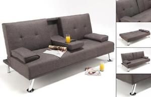 Sofa Bed with Dropdown Tray and Cup holder (BD-1660)