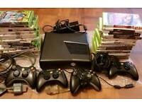 Xbox 360 slim with games ect