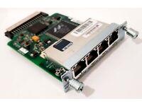Cisco - HWIC-4ESW - 800-24193-01 B0 - Four port 10/100 Ethernet switch interface card