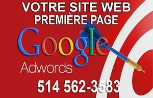 WEB MARKETING | Augmenter votre clientèle avec Google - 1e Place sur GOOGLE AdWords