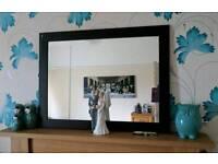 Dark brown mirror