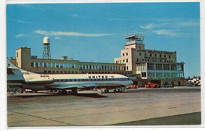 Bradley International Field Airport Springfield Hartford Connecticut postcard