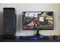 Gaming PC Computer Desktop Intel Quad Core Windows 10 Nvidia GTX LED Quiet Fan