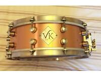 """VK solid copper snare drum (1 of 6 made) 14"""" x 5"""""""