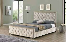 FLORENCE CRUSHED VELVET FRAME BED ON SALE!!