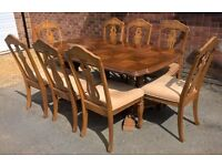 6 to 8 Seater Dining Room Table and Chairs ( Extendable Table with 8 chairs )
