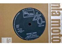 nine ' 45 rmp records