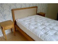 John Lewis King size bedframe/bed frame, bedside tables/cabinets, chest of drawers.