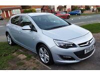 15 / 2015 - Vauxhall Astra 1.4 i VVT 16v SRi 5dr SILVER, ALMOST BRAND NEW, GENUINE LOW MILEAGE