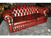 leather 3 seater Chesterfield sofa...matching chairs also available
