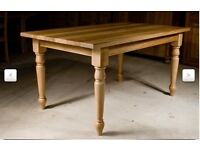 Solid OAK rustic farmhouse Kitchen / dining table. Heavy solid, some water damage should sand out.